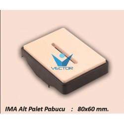 ALT PALET PABUCU 80X60 MM.